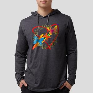 For The Love Of Art Mens Hooded Shirt