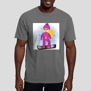 4x4_snowboard_blgirl Mens Comfort Colors Shirt