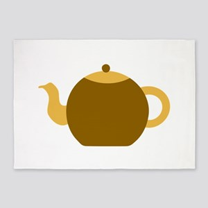 Brown Tea Pot. 5'x7'Area Rug