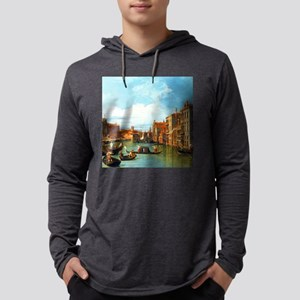Grand Canal in Venice by Canalet Mens Hooded Shirt