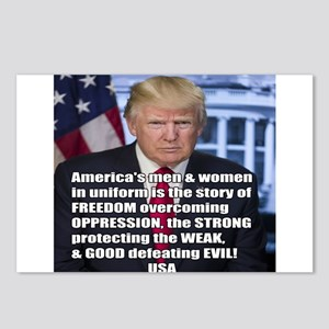 President Trump Freedom Quote Meme Postcards (Pack