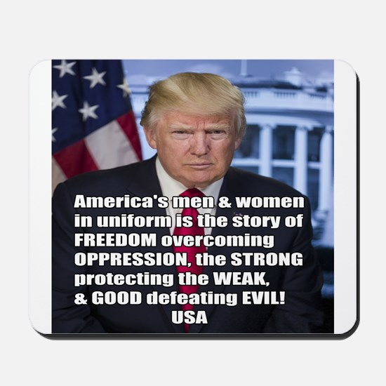 President Trump Freedom Quote Meme Mousepad