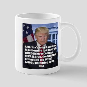 President Trump Freedom Quote Meme Mugs