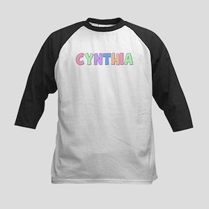 Cynthia Rainbow Pastel Kids Baseball Jersey