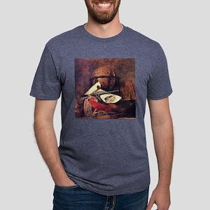 Travel Globe painting by Ch Mens Tri-blend T-Shirt
