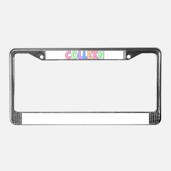 Colleen Rainbow Pastel License Plate Frame
