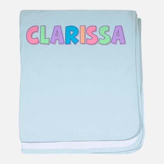 Clarissa Rainbow Pastel baby blanket