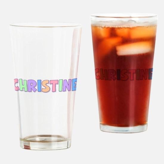 Christine Rainbow Pastel Drinking Glass