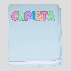 Christa Rainbow Pastel baby blanket
