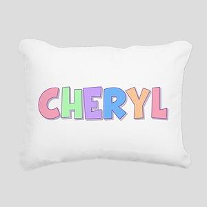 Cheryl Rainbow Pastel Rectangular Canvas Pillow