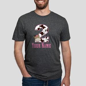 2nd Birthday Girl Horse Mens Tri-blend T-Shirt