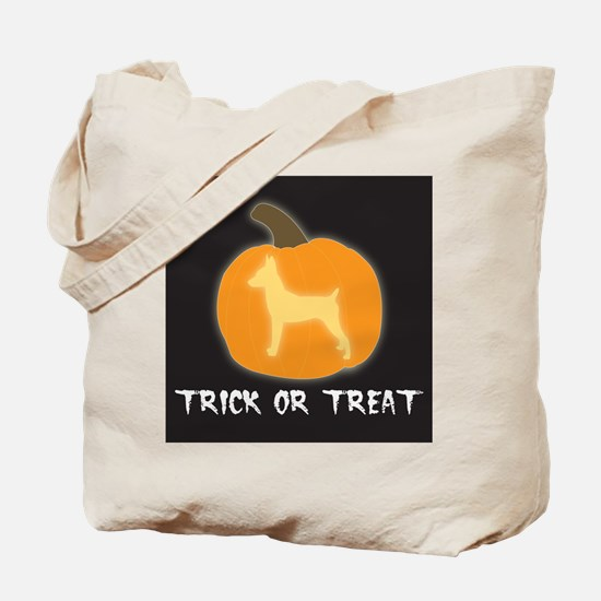 """Toy Fox Terrier """"Trick or Treat"""" Tote Bag"""