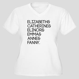 Austen Heroines Women's Plus Size V-Neck T-Shirt