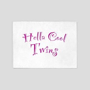 Hella Cool Twins 5'x7'Area Rug
