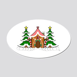 Cute Gingerbread house for Christmas 20x12 Oval Wa