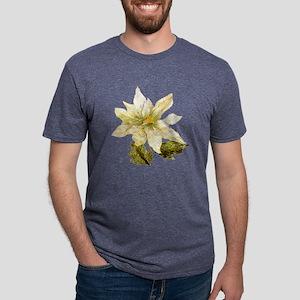 GOLDEN POINSETTIA Mens Tri-blend T-Shirt