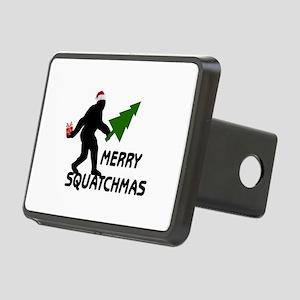 Merry Squatchmas Rectangular Hitch Cover
