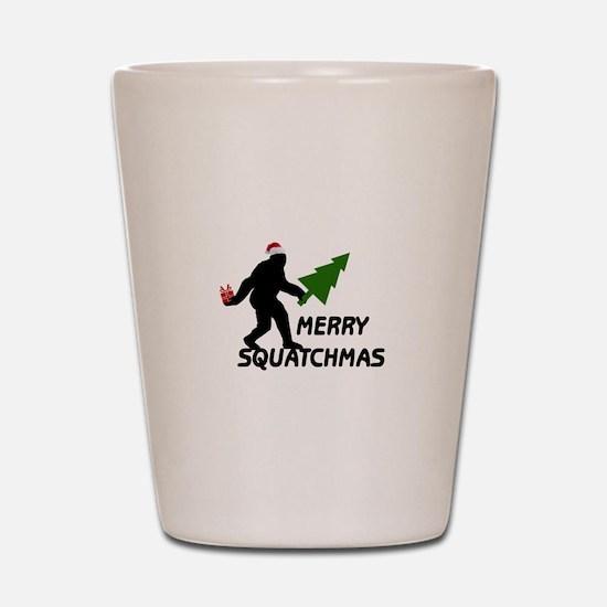 Merry Squatchmas Shot Glass