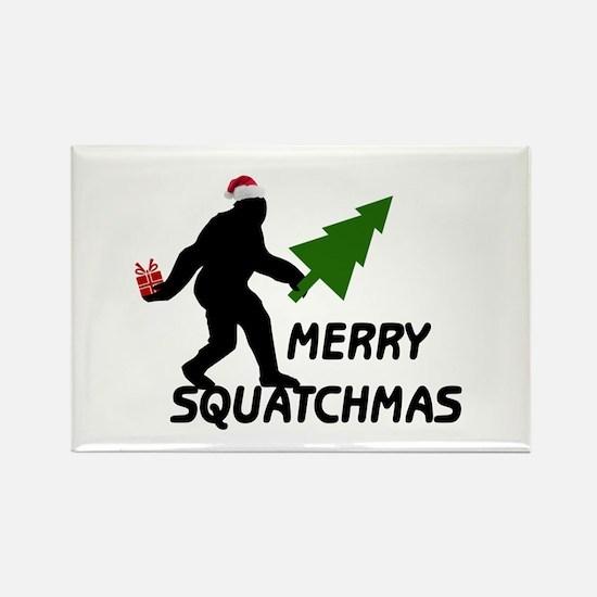 Merry Squatchmas Rectangle Magnet