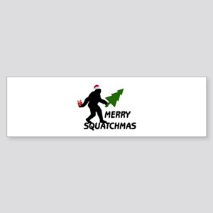 Merry Squatchmas Sticker (Bumper)