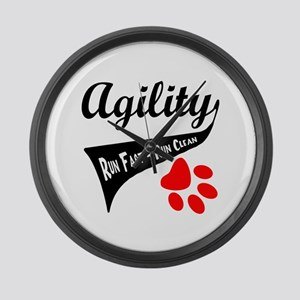 Agility Tail Large Wall Clock