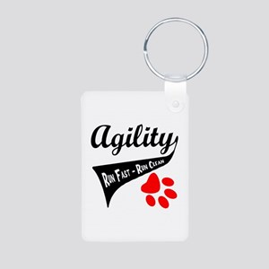 Agility Tail Aluminum Photo Keychain