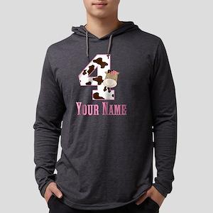 4th Birthday Girl Horse Mens Hooded Shirt