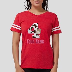 4th Birthday Girl Horse Womens Football Shirt