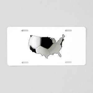 American Soccer Aluminum License Plate