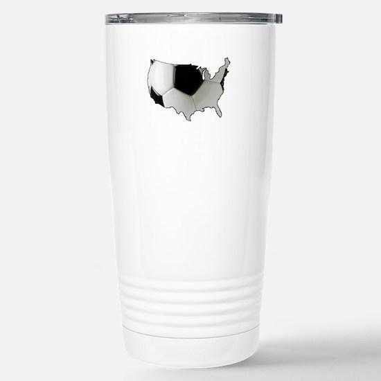 American Soccer Stainless Steel Travel Mug