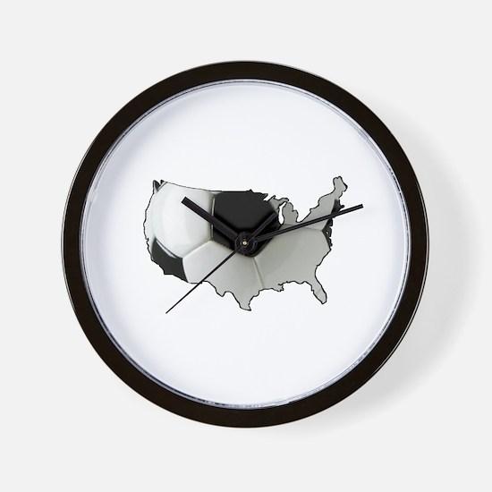 American Soccer Wall Clock