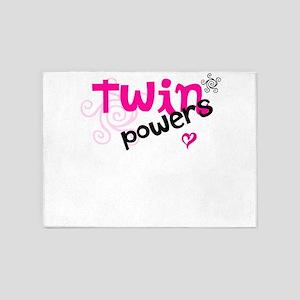 Twin Powers 5'x7'Area Rug
