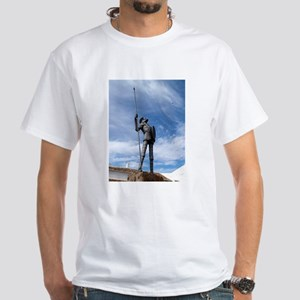 White T-Shirt - image of Don Quixote