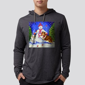 sheltieorn Mens Hooded Shirt