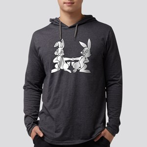 Hippity Hop Easters on its way.. Mens Hooded Shirt