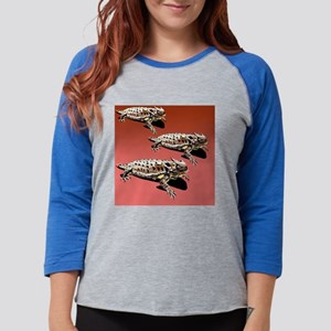 horny_toads_group_throw_pillow Womens Baseball Tee
