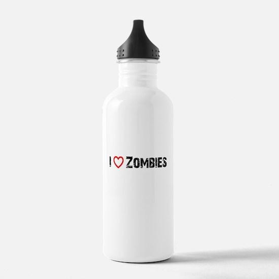 I <3 Zombies! Water Bottle