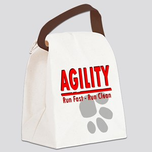 Agility Run Fast Canvas Lunch Bag