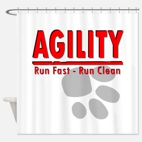Agility Run Fast Shower Curtain