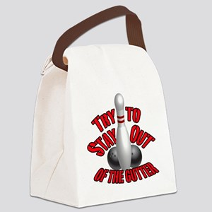 Stay out of the gutter Canvas Lunch Bag