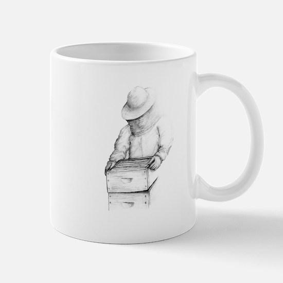 beekeeper 2Bpencil final Mugs