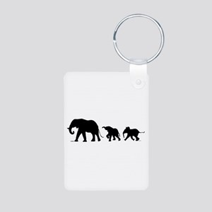 Elephant Aluminum Photo Keychain Keychains