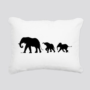 Elephant Rectangular Canvas Pillow