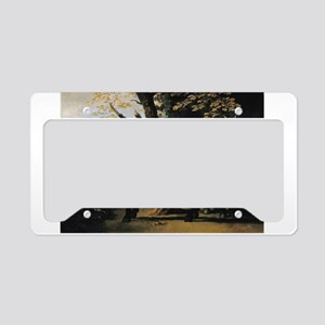 Painting of Two Horses License Plate Holder