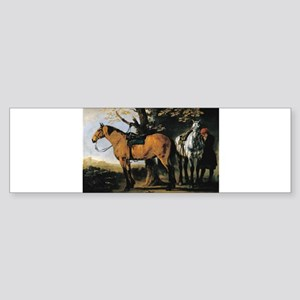 Painting of Two Horses Sticker (Bumper)