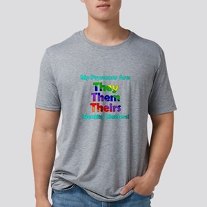 They Them Theirs Pronouns Mens Tri-blend T-Shirt