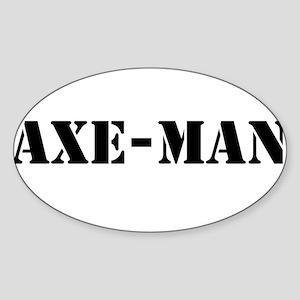 Axe-man Sticker (Oval)