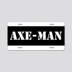 Axe-man Aluminum License Plate