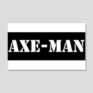 Axe-man 20x12 Wall Decal
