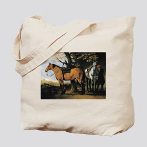 Painting of Two Horses Tote Bag
